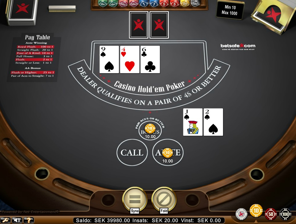 Casino Hold 'Em - Rizk Casino