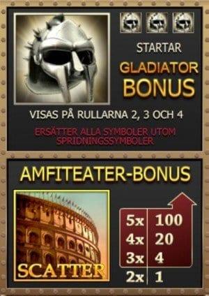 Gladiator bonussymboler