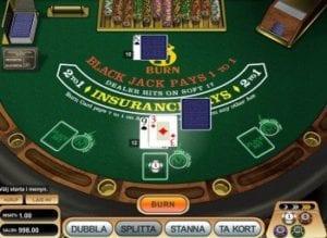 Blackjack burn 21 uppsättning