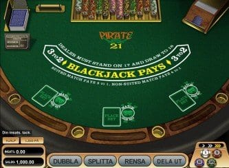 Black Jack Pirates 21 spel