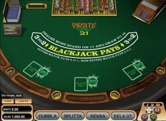 Black Jack Pirates 21 spel
