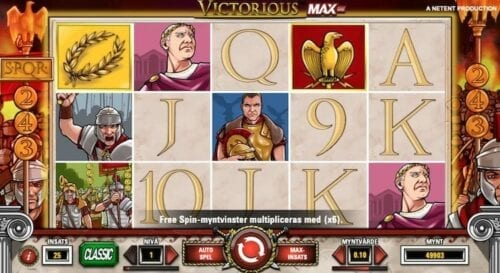 Victorious MAX slot recension
