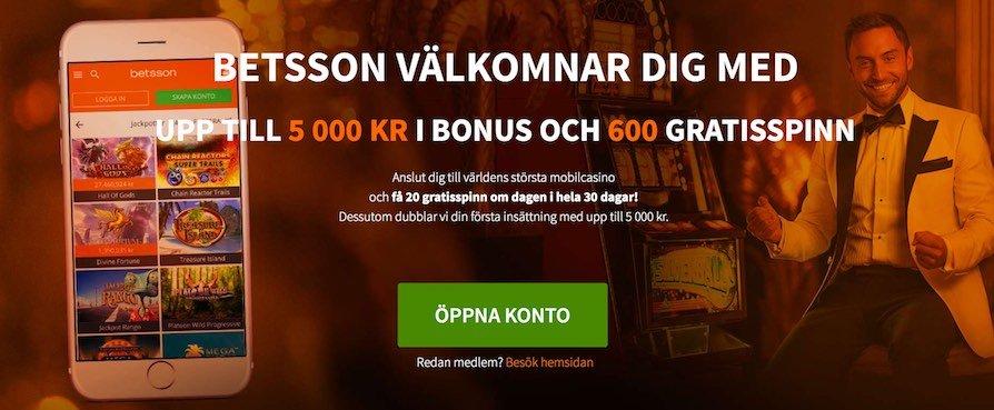 Betsson.Com Bonus