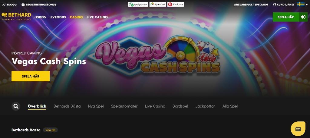 Bethard casino hemsida