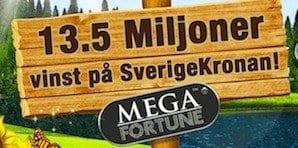 Mega Fortune jackpottvinst