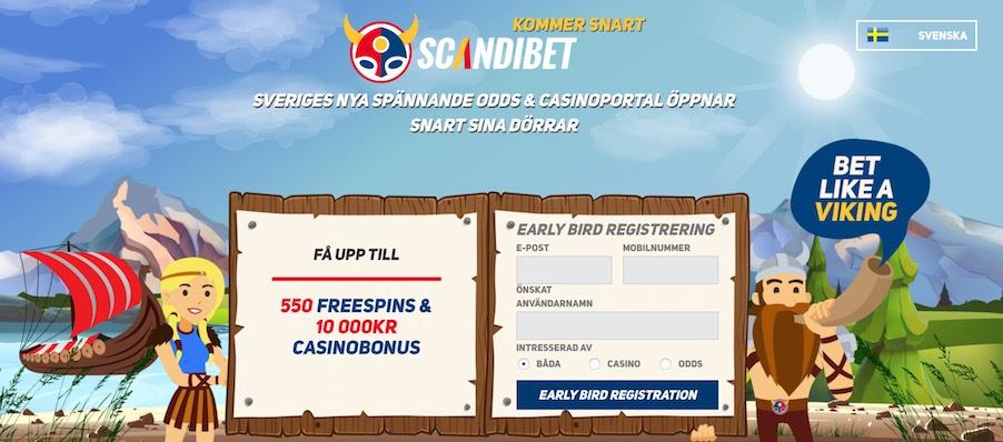 Scandibet - FГҐ 550 free spins och 10 000 kr casino bonus!