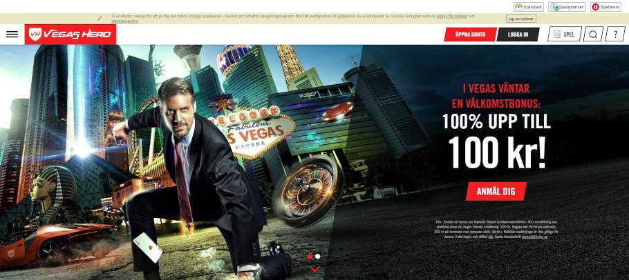 Vegas hero bonus