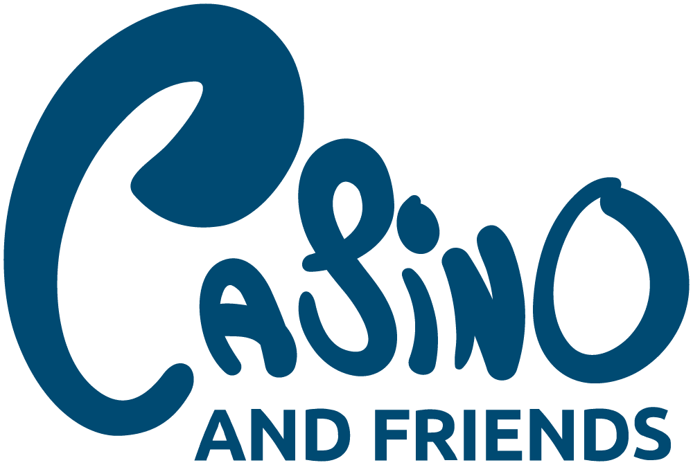 Casino and friends logo on transparent background