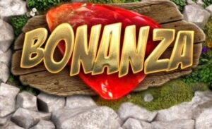 Texten Bonanza med spelets tema som bakgrund