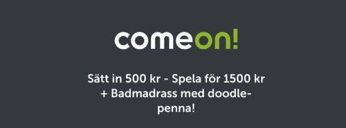 Comeon-sommarbonus