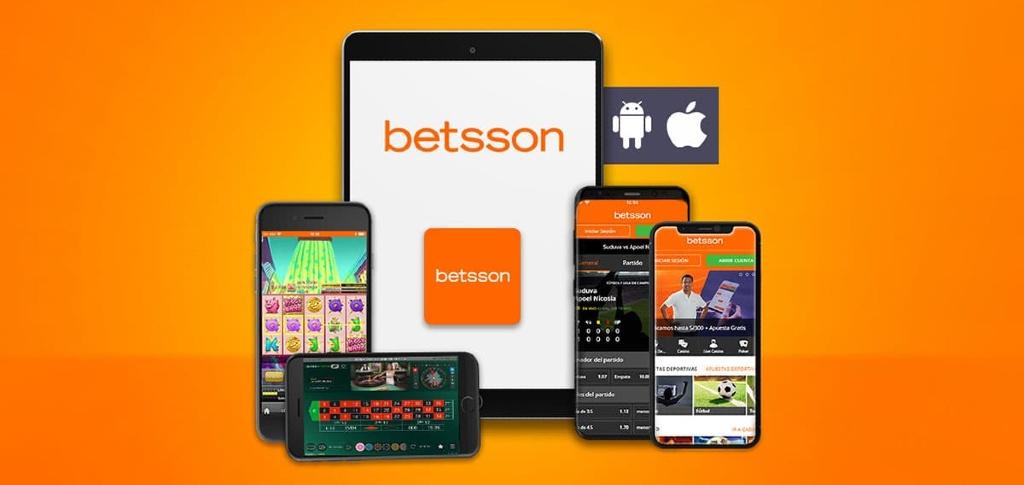 Betsson casino-appen på olika enheter för både iOS och Android