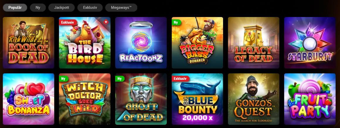Casinospel hos Pokerstars casino