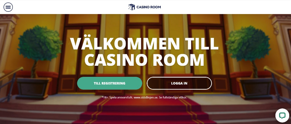 Casino room hemsida och registrering