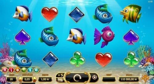 Golden fish tank slot symboler