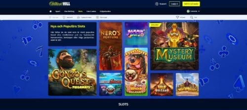 william hill landing page slots