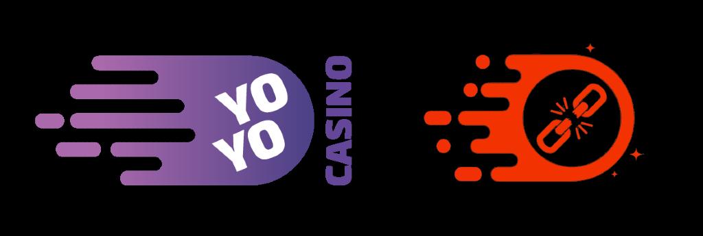 Logo för Yoyo Casino och Klirr Casino brevid varandra