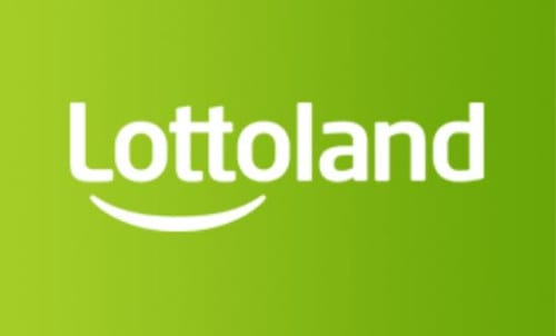 Lottoland logga på grön bakgrund