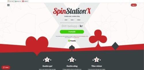 spinstation x casino landing