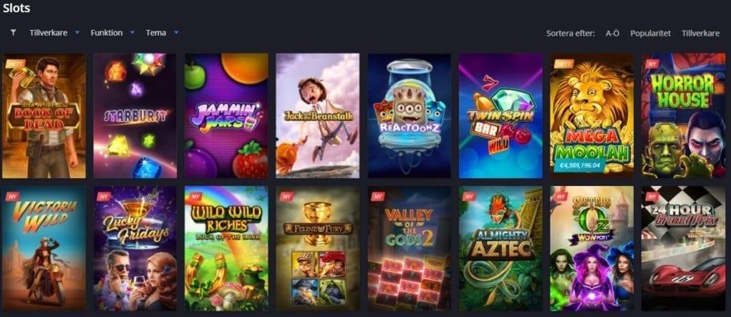 twin casino slot och spelutbud