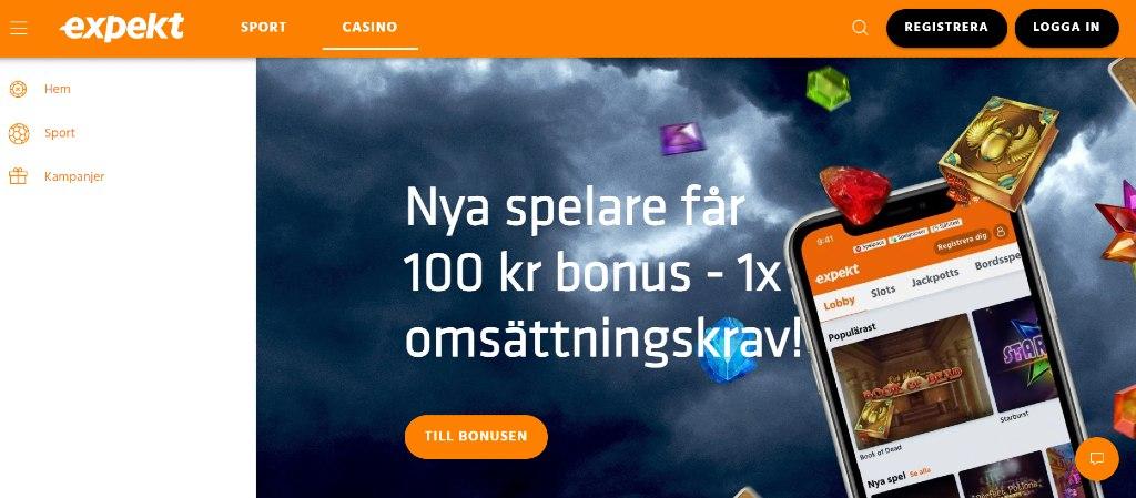 Expekt Casino hemsida