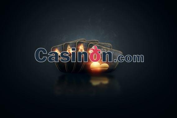 Casinon.com official logo with 4 aces