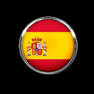 Spaniens flagga som en rund ikon