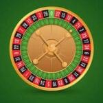 ett roulette-hjul visat uppifrån