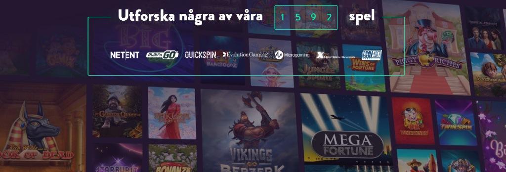 Antal spel & tillgängliga spelleverantörer hos Dunder casino