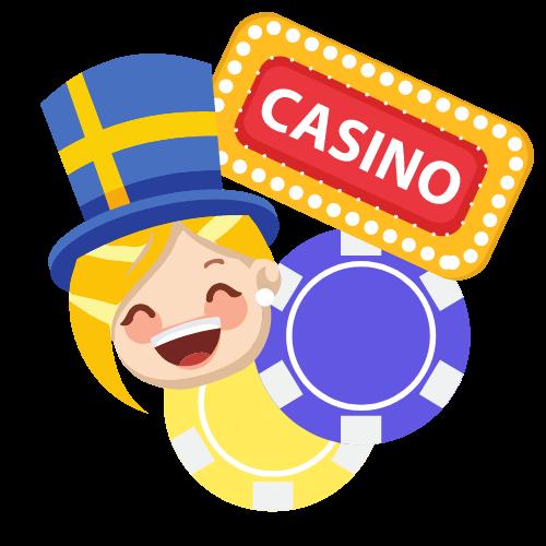 Glad spelare hos svenska casino