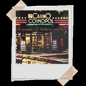 Gammalt foto av Casino Cosmopol i Stockholm