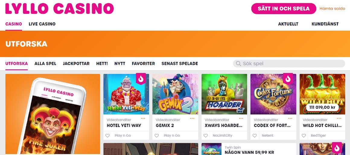 Lyllo casino bonus